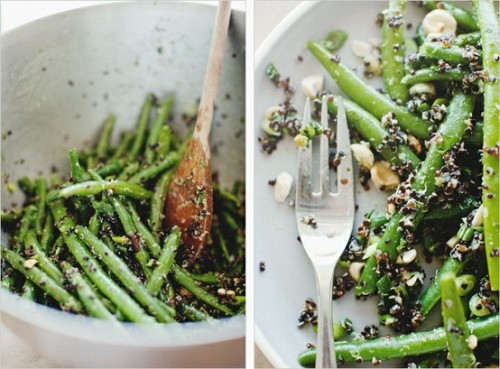 squaremeal:  (via yum.nom. / green bean & quinoa)