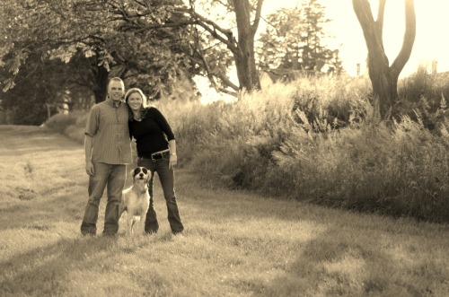 Michele, Chris, and Mr. Buck - Shaker Village - Canterbury, N.H. - June 2012