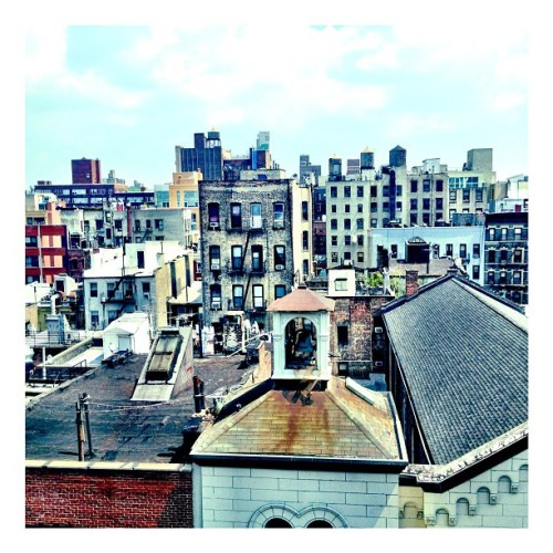 Rooftop lunch break #soho #nyc #newyorkcity (Taken with Instagram at SoHo)