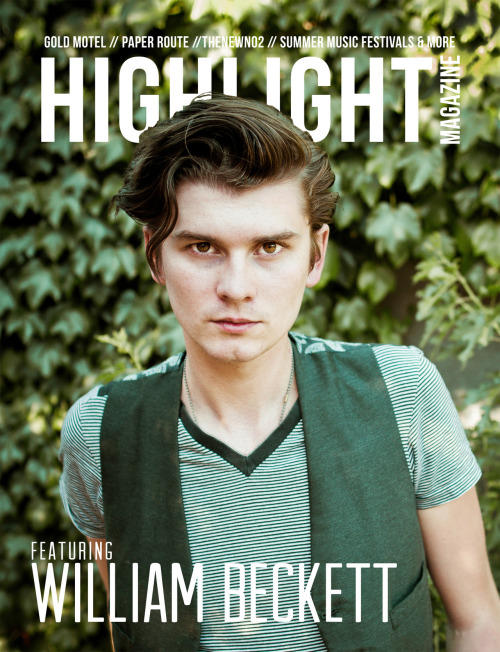 We've just announced that Issue #6 of Highlight Magazine features William Beckett! This issue is our biggest and best issue yet. We couldn't be more excited to share it with you. It will be available to read online for free on August 7th, 2012 (Tuesday). Be sure you follow and support us over on our Twitter, Facebook and Instagram (@highlight_mag. Check out our website for further information and details about this issue!