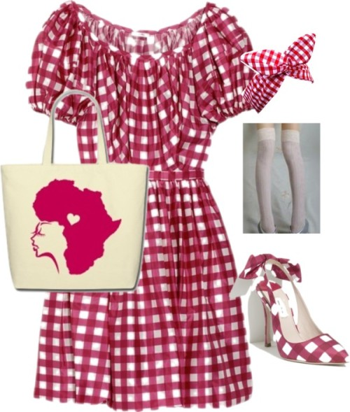 50's style housewife by shoestoall featuring red hair accessoriesRed hair accessory