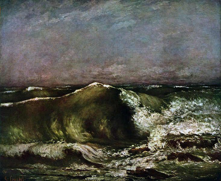 irrationalcreation:  The Wave1870Gustave Courbet1819 - 1897Oil on Canvas