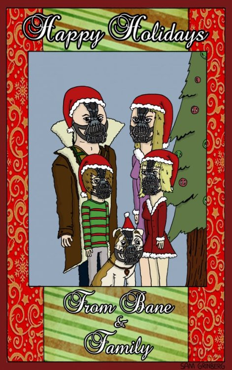 Happy Holidays from BANE & FAMILY! Bane's Annual Family Christmas Card