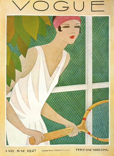 Vogue, Late June 1927, Price One Shilling. (click through for other vintage covers)