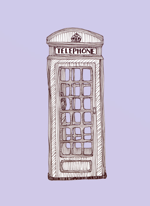 Telephone Box. Sketch.
