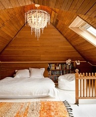 transform your attic into a wonderland! i adore this chadelier!  [via: ron amag]