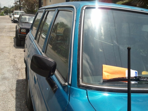 "WARNING!  Parking Control is issuing tickets for vehicles parked facing ""the wrong way"", such as these along Tonti St. on Thursday afternoon., alert"