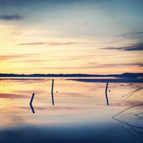 Halosenniemi #finland #sunset (Taken with Instagram at Halosenniemi)