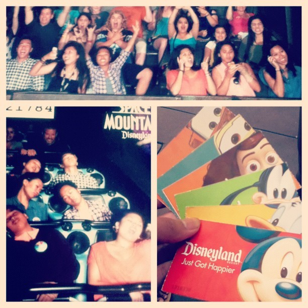 Annual Disney trip with mah homies<3 Guess how much fun we had(; #disneyland #disneylove #dolewhipfloat #madteaparty #towerofterror #spacemountain  (Taken with Instagram at Disneyland Park)