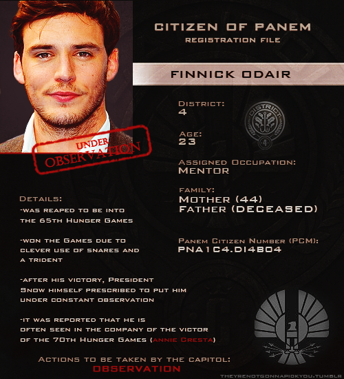 Capitol Files - Finnick Odair