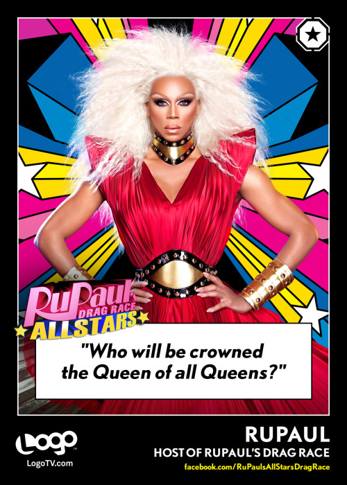 TRADING CARD THURSDAY: RuPaul - the RuPaul's All Stars Drag Race version. (The cast for All Stars will be revealed this Monday at 10/9c on Logo during In the Big House!)