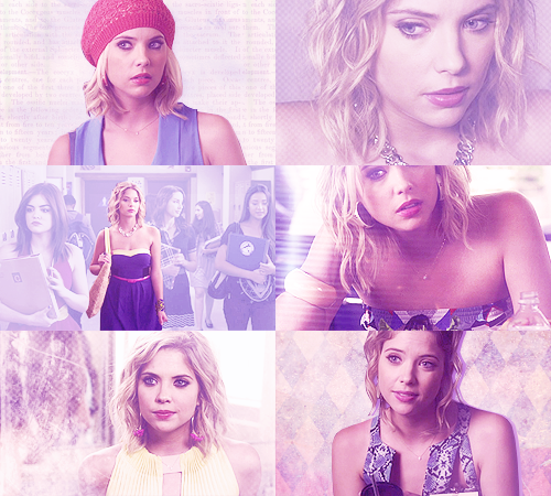 Hanna Marin + purple (asked by anonymous)