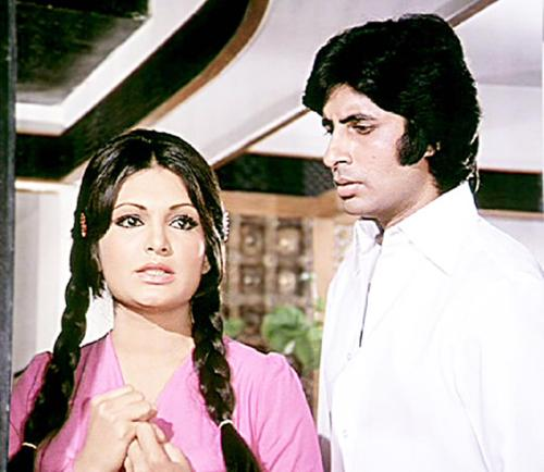 beautifiedthisworld:  Parveen and Amitabh.