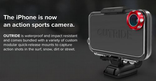 Mophie Announces Outride, a Waterproof Action Sports Camera Kit & App for iPhone