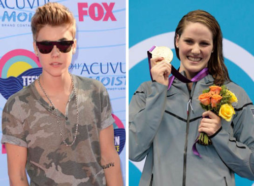 "Olympic swimmer Missy Franklin recently won gold for Team USA, but that's not the only thing she's smiling about!  After hearing that Missy is a Belieber, Justin tweeted her congratulations on her big victory. He sent, ""heard @FranklinMissy is a fan of mine. now im a fan of hers too. CONGRATS on winning GOLD! #muchlove""  So sweet!"