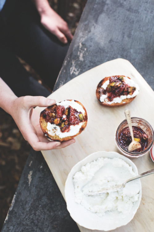 foodandwinephotos:  © Young & Hungry Fig, Orange & Pistachio Conserve Recipe Contributed by Ernest Miller Click here for full recipe