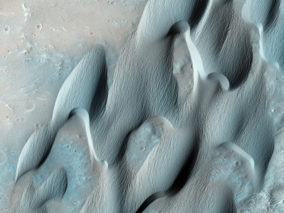 Dunes in Herschel Crater on Mars, seen by the HiRise instrument on the MRO. by NASA