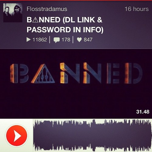 Grab our new mix B⚠NNED NOW http://t.co/NIQr0uFC (Taken with Instagram)