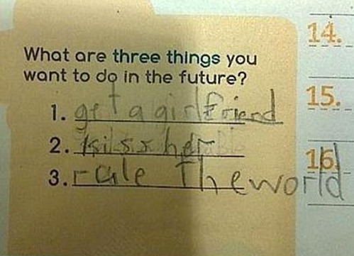 this kid's got the world figured out