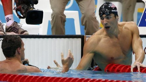 Phelps, Lochte go head-to-head in 200m individual medley U.S. swimmers Michael Phelps and Ryan Lochte faced off today in the 200-meter individual medley at the London Games. Lochte beat Phelps in the 400-meter individual medley several days ago. Medals have also been awarded in the men's 200-meter backstroke and the women's 200-meter breaststroke. View the results at BreakingNews.com. Photo: David Gray / Reuters