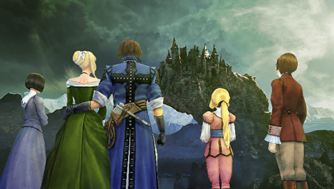 Richter Belmont, Maria Renard, Iris, Tera and Annette (Castlevania - The Dracula X Chronicles)