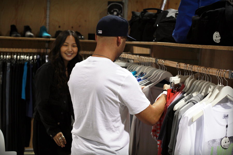 BTS of Ev at work. Our head Menswear Buyer has an awesome job. Trade ya? -Steezy