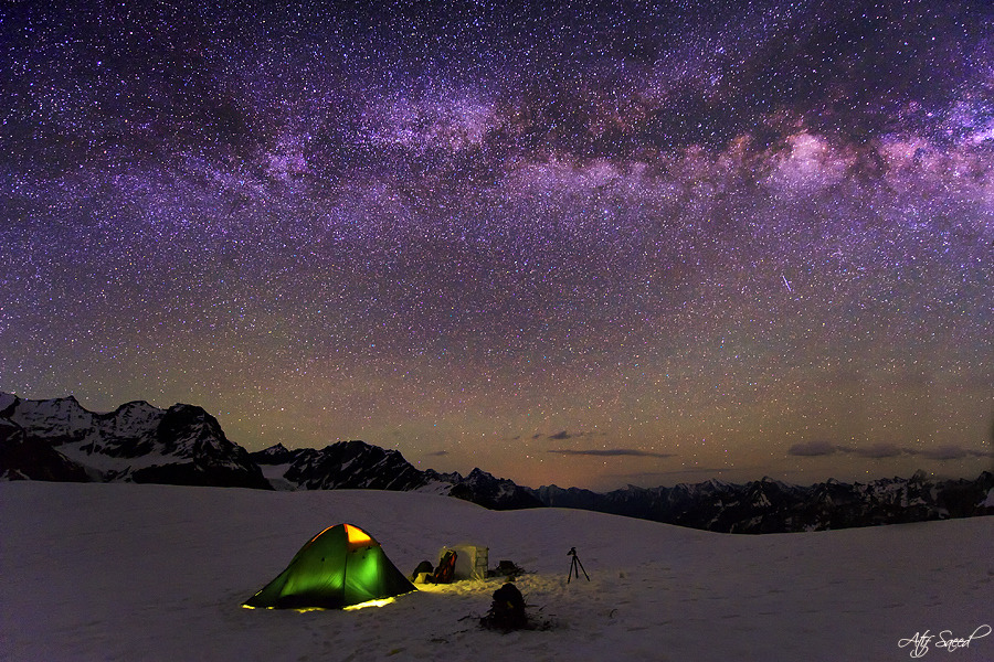 unknownskywalker:  My Camp at 5000m by Atif Saeed