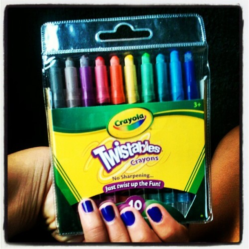 These arnt just any ordinary cartons! Their TWISTABLES!!! Twisty crayons! (Taken with Instagram)