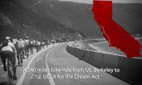 "4th Annual CA Tour de Dreams (540 miles from UC Berkeley to UCLA) Who are the Dream Riders? Students from all across the nation who come together every year to embark on a 540-mile bike tour known as the California Tour de Dreams. 2012 is the fourth annual Tour de Dreams, predicated on raising scholarships for underrepresented and historically marginalized students. We cycle to raise awareness about the rising cost of higher education and to show students that with a  little creativity, they can achieve their dreams. This is more than a bike ride. This is a political action!   Why Cycle:Because undocumented people are unable to get drivers licenses, our only viable alternatives are public transportation or asking a friend for a ride. Yet, these options are often unreliable. Our bikes symbolize us taking our lives and our transportation into our own hands. We rely on our autonomy and our self-reliance! In addition, through cycling we have also demystified the sport of cycling. We made cycling our own, taking it out of the spectrum of the ""Lance Armstrongs"" and brought cycling to people of color, the chubby cheeked, the working poor, Womyn, Trans*, LGBT, and male cyclists alike! Our bikes have become an increasingly important aspect to the tour itself, they are the third group of participants: riders, volunteers, and bikes!   If you would like to support the Tour De Dreams or our bikes, please contact us at: tourdedream@gmail.com"