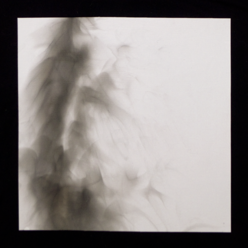 "pie-bird:  Fumage/smoke on canvas 12""x12"" by EKüL B./Luke Buser 2012. This is a signed and numbered edition of 60 for an upcoming record project through Beta-Lactam Ring Records. More info on that soon! I will be posting pictures of all 60."