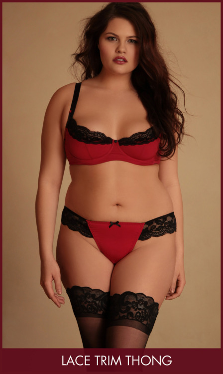 Hips and Curves Lace Trim Thong. View it here on the website
