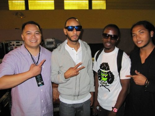 back stage with Swizz after I performed.  #TBT