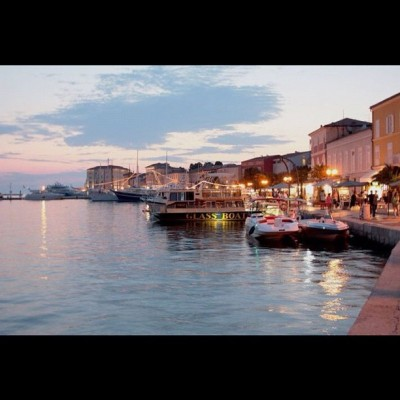 Our lovely porec #porec #croatia #sea #water #holiday #home #light #night #love  (Taken with Instagram)