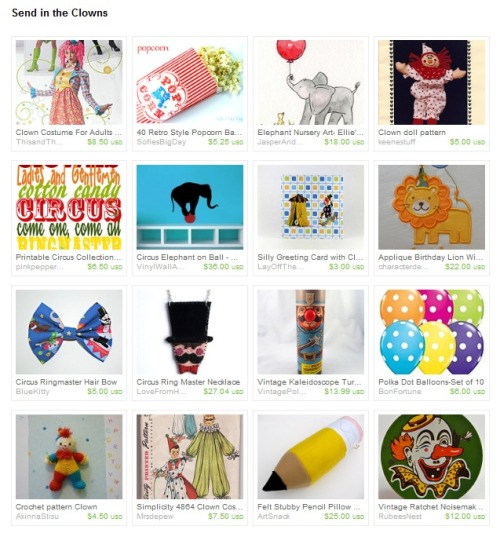My ringmaster hair bow was featured in an awesome circus treasury on etsy! Stop by and take a look! : )