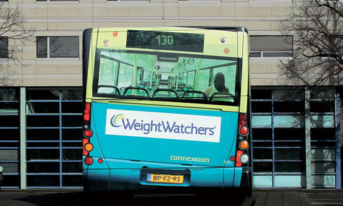 Weightwatchers Bus Advertising