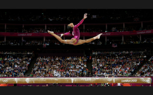 [Gabby] Douglas, a 16-year-old from Virginia Beach, became the first African-American Olympic all-around gymnastics champion and the third consecutive American to win.  I love her and our shared hometown.