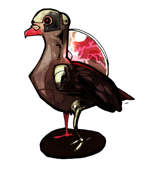 I commissioned amika to draw a cyborg bird and holy crap will you look at this.