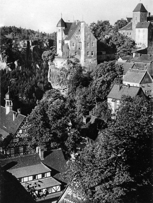 The town of Hohnstein, Saxony, Germany, 1924 photo by by Kurt Hielscher