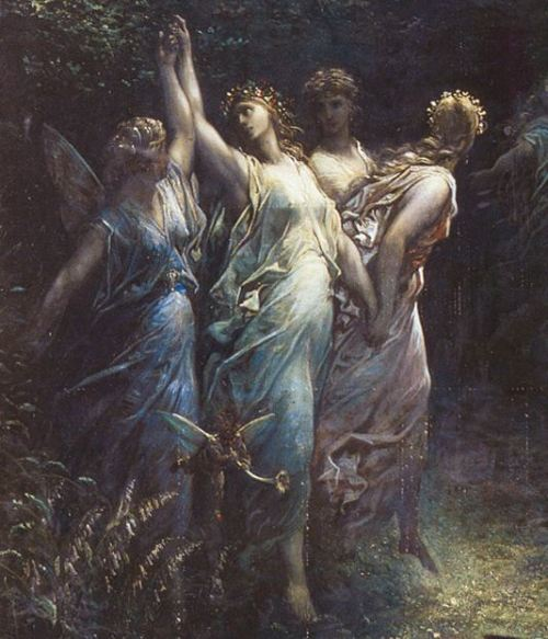 artdetails:  Gustave Doré, A Midsummer Night's Dream (detail)