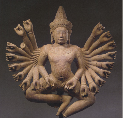 youmightfindyourself:  Siva in his his Sadasiva manifestation…his 20 hands raised in the gesture of teaching.