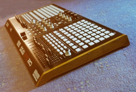 APC 80, yes please, do want.  and goddamn! The wood looks so nice on the side of the APCs. One thing that I really do dislike about the APCs is the ridiculous design of the sides, with the unwieldy, pointy, space-consuming… wings? what else can you call them. another complaint I guess I have are the buttons. I would absolutely love them if they clicked, the way the kontrol X1 buttons click, despite being of a similar soft rubber. I mean, the clip launch buttons don't have to be velocity sensitive anyway, and it's really nice getting extra tactile feedback. It makes it more comfortable experience. /my silly thoughts on controllers