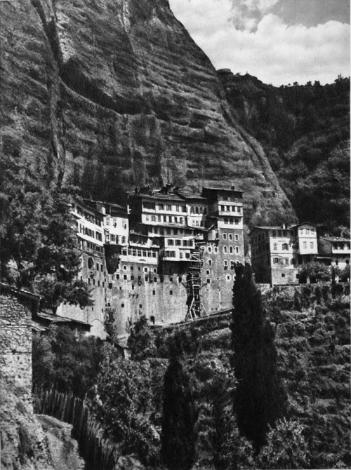 The cave monastery of Megaspilaion, Greece, 1928