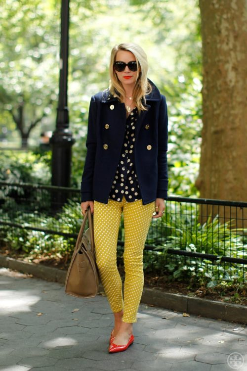 toryburch:  P is for Peacoat Atlantic-Pacific blogger Blair Eadie pairs our classic peacoat with playful polka dots, adding a tomboy edge to her fall essentials.