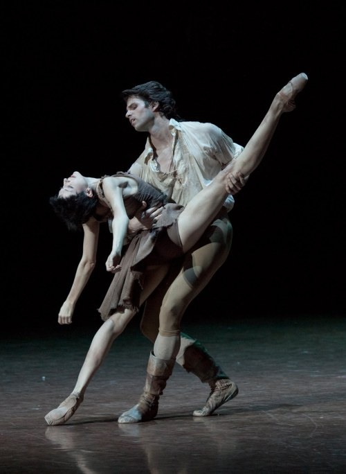 thedailyballet: Florian Magnenet and Isabelle Ciaravola in Manon. Photo by Anne Deniau.