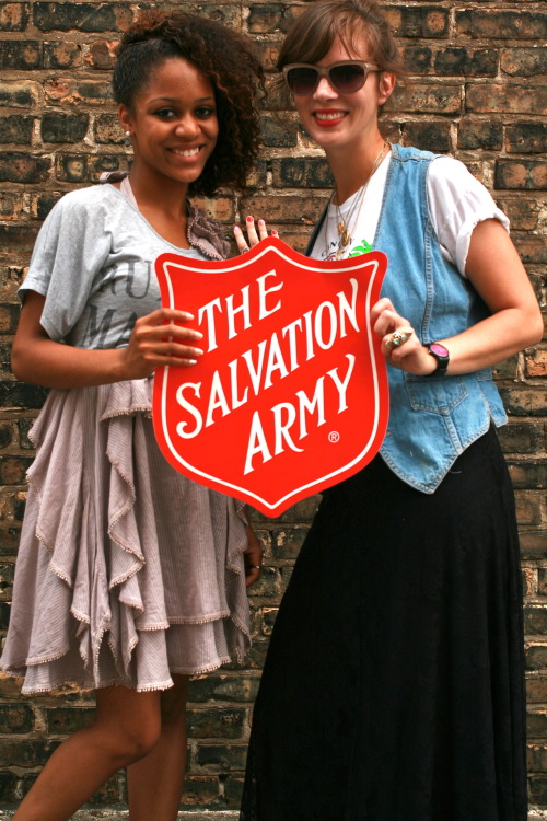 I work as the Merchandise Supervisor for nine Chicago area Salvation Army Thrift Stores - and we started a thrifting blog! You should follow it! Currently it's on Wordpress, but maybe in the future it will also be on Tumblr! In the meantime check it out for cool vintage and current style finds, contests for in-store discounts, and DIY/repurposing tutorials! It's gonna be so fun!