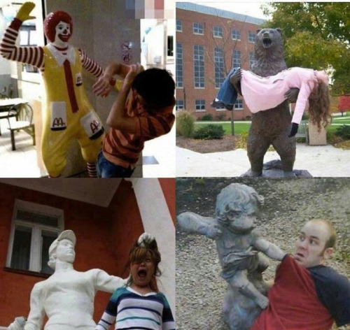 Funny with Statues! 4 Hilarious pictures!