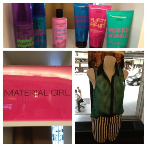 Checking out the @MaterialGirl collection at #Iconix. The beauty collection is launching soon. (Taken with Instagram)