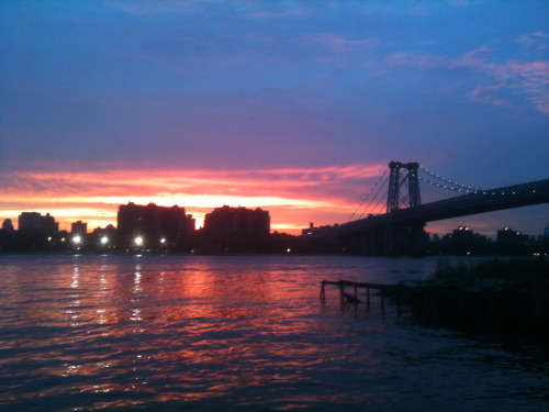 Williamsburg sunset.
