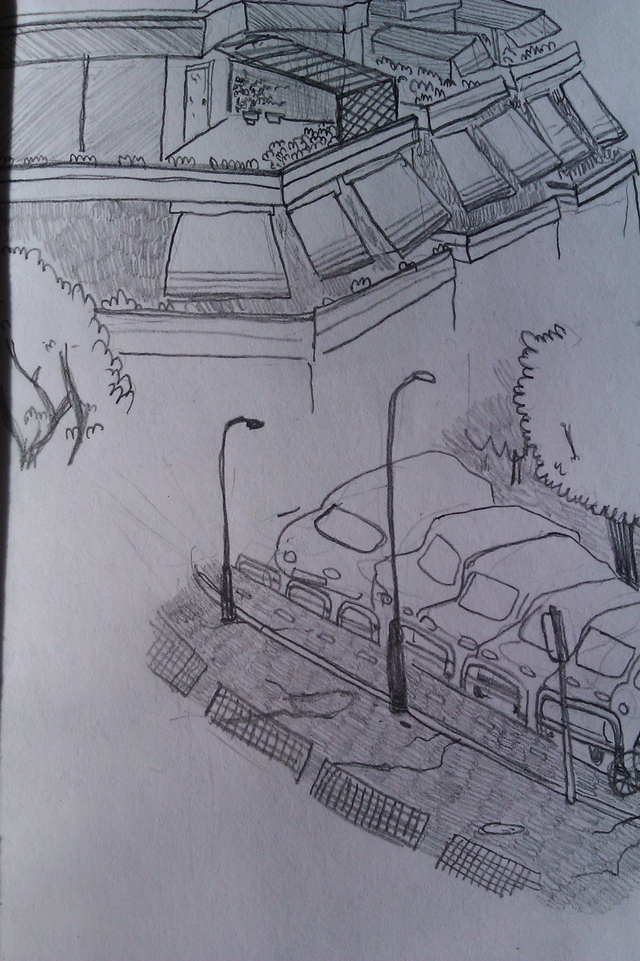 Some sketches I did of places around the apartment I stayed in on my holiday, Italy is great when you're drawing as people rush up to see what you're doing and get excited.