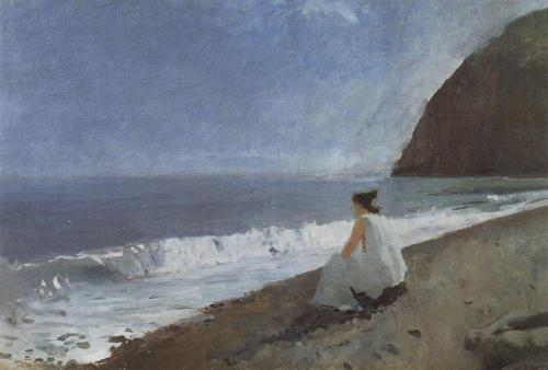 colourthysoul:  Valentin Serov - Iphigenia in Tauris (1893)